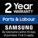 Samsung Two Years Parts & Two Years Labour Warranty