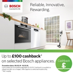 Bosch Up To £100 Cashback With Bosch!