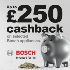 Up To £250 Cashback With Bosch!