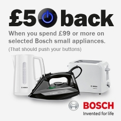£50 Back With Bosch Small Appliances!