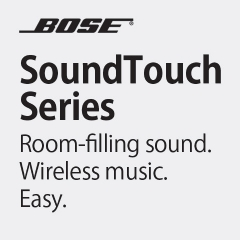 Bose Room-filling sound.  Wireless music. Easy.