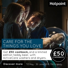 Hotpoint £50 Cashback With Hotpoint!