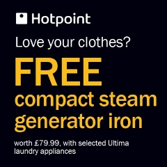 FREE compact steam generator iron!