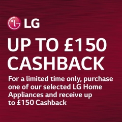 LG Up To £150 Cashback With LG!