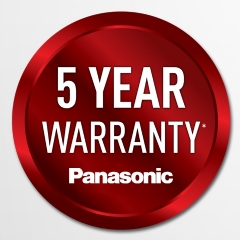 Panasonic Free 5 Year Warranty!