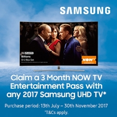 Samsung 3 Months FREE Now TV With Samsung!