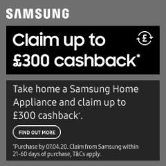 Samsung Up To £300 Cashback With Samsung!