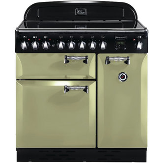 Rangemaster 100970 90cm ELAN Electric Ceramic Range Cooker in Olive Gr