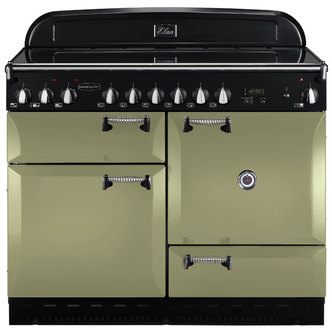 Rangemaster 101000 110cm ELAN Electric Ceramic Range Cooker in Olive G