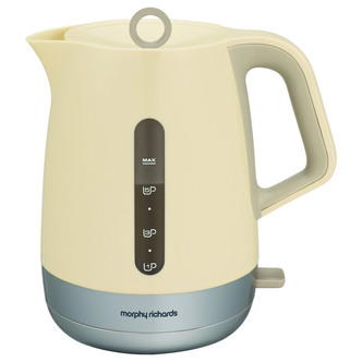 Morphy Richards 101207 Chroma Cordless Jug Kettle in Ivory 1 5L 3 0kW