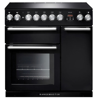 Image of Rangemaster 104820 90cm NEXUS Induction Range Cooker in Black Chrome