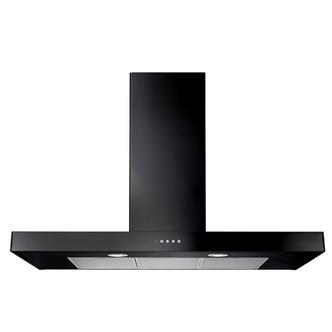 Image of Rangemaster 105260 100cm Flat Cooker Hood in Black