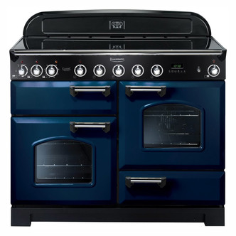 Rangemaster 113090 110cm CLASSIC DELUXE Induction In Blue Chrome
