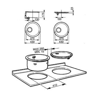 Smeg 11I 43cm Alba Round Drainer Sink in Stainless Steel