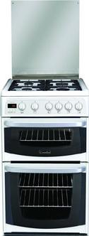 Image of Cannon C50GKWF 50cm KESWICK Gas Cooker in White Double Oven FSD