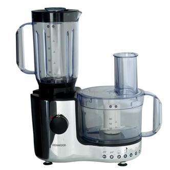 Kenwood FP196 600W Food Processor with Liquidiser Chrome Black