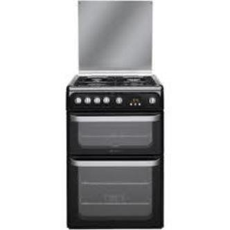 Image of Hotpoint HUG61K 60cm ULTIMA Gas Cooker in Black Double Oven A Rated