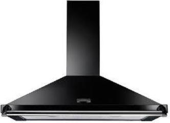 Image of Rangemaster 89280 110cm CLASSIC Cooker Hood in Black with Chrome Rail
