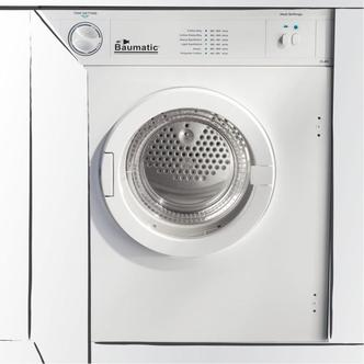 Baumatic BTD1 6kg Integrated Vented Tumble Dryer in White