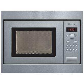 Image of Bosch HMT75M551B Built in Compact Microwave Oven in Brushed Steel 800W