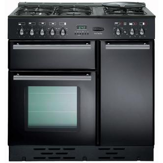 Image of Rangemaster 73540 90cm TOLEDO Gas Range Cooker Gloss Black FSD