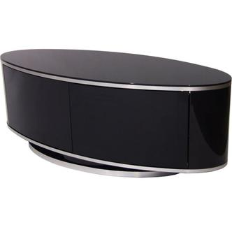 MDA Design ZIN502610 Luna Oval Shape High Gloss Black TV Stand
