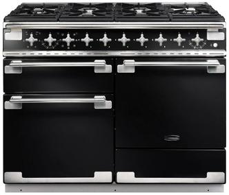 Rangemaster 94200 110cm ELISE Dual Fuel Range Cooker In Gloss Black
