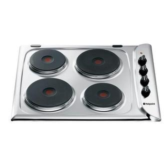 Hotpoint E604X 60cm STYLE Electric Sealed Plate Hob in Stainless Steel