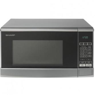 Sharp R270SLM Compact Microwave Oven in Silver 800W 20 litre
