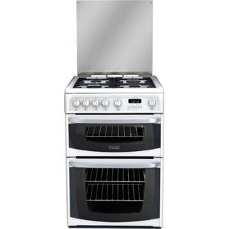 Cannon CH60GCIW 60cm CARRICK Gas Cooker in White Double Oven
