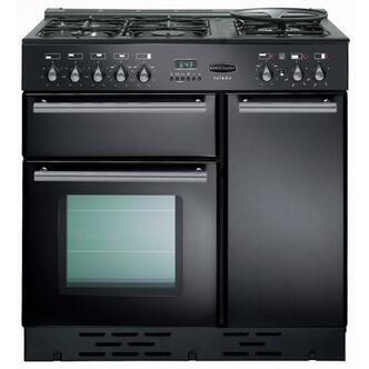 Rangemaster 72850 90cm TOLEDO Dual Fuel Range Cooker in Gloss Black