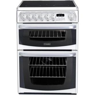 Image of Cannon CH60EKW 60cm KENDAL Electric Cooker in White Ceramic Hob D Ovn