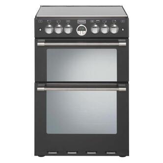 Stoves 444440990 60cm STERLING 600DF BLK Dual Fuel Cooker in Black