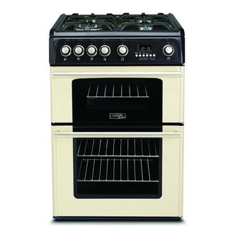 Cannon CH60GPCF 60cm Gas Range Cooker in Cream Double Oven