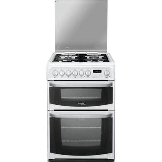 Image of Cannon CH60DHWF 60cm HARROGATE Dual Fuel Cooker in White Double Oven