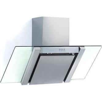 Baumatic BE700GL 70cm Angled Glass Chimney Hood in Stainless Steel