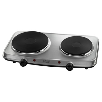 Russell Hobbs 15199 2 Plate Table Top Mini Hob in Stainless Steel