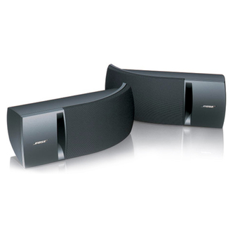 Bose 161 BLACK Wall Mounted Stereo Speakers in Black