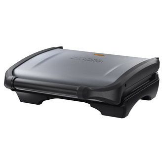 George Foreman 19920 5 Portion Family Health Grill in Silver Black