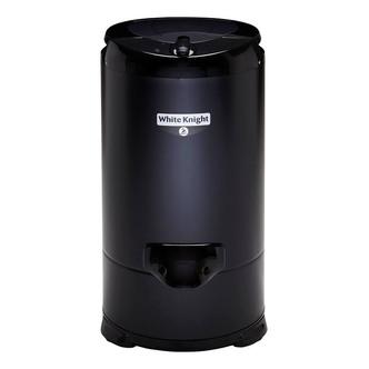 White Knight 28009B 4 1kg 2800rpm Gravity Drain Spin Dryer in Black