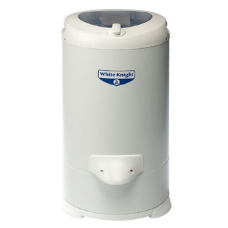 White Knight 28009W 4 1kg 2800rpm Gravity Drain Spin Dryer in White