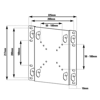 Vivanco 33384 Small Fixed TV Wall Bracket for Screen Sizes Up To 32