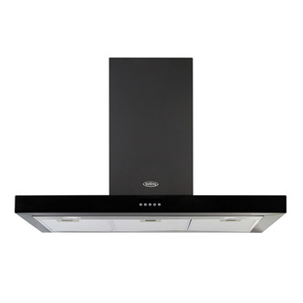 Image of Belling 444410344 100cm Flat Cookcentre Chimney Hood in Black