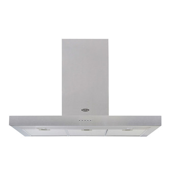 Image of Belling 444410345 100cm Flat Cookcentre Chimney Hood in St Steel