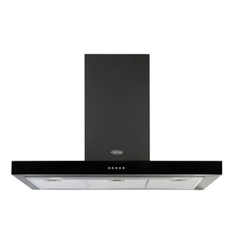 Image of Belling 444410346 110cm Flat Cookcentre Chimney Hood in Black