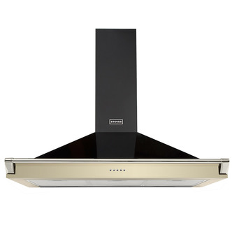 Stoves 444442868 110cm Richmond Chimney Hood With Rail in Champagne