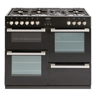 Belling 444443015 DB4 100DF 100cm Dual Fuel Range Cooker in Black