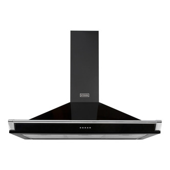 Image of Stoves 444443560 110cm Richmond Chimney Hood With Rail in Black