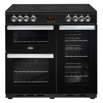 Belling 444444074 Cookcentre 90E 90cm Electric Range Cooker in Black
