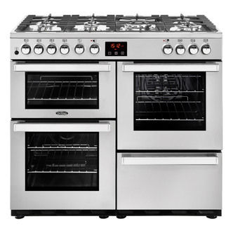 Image of Belling 444444081 Cookcentre 100DFT Prof 100cm Dual Fuel Range St Stee